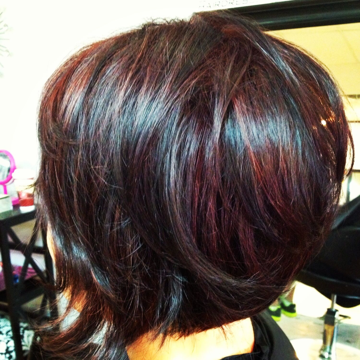 Dark Cherry Red with Black Dimension | Hairstyles | Pinterest ...