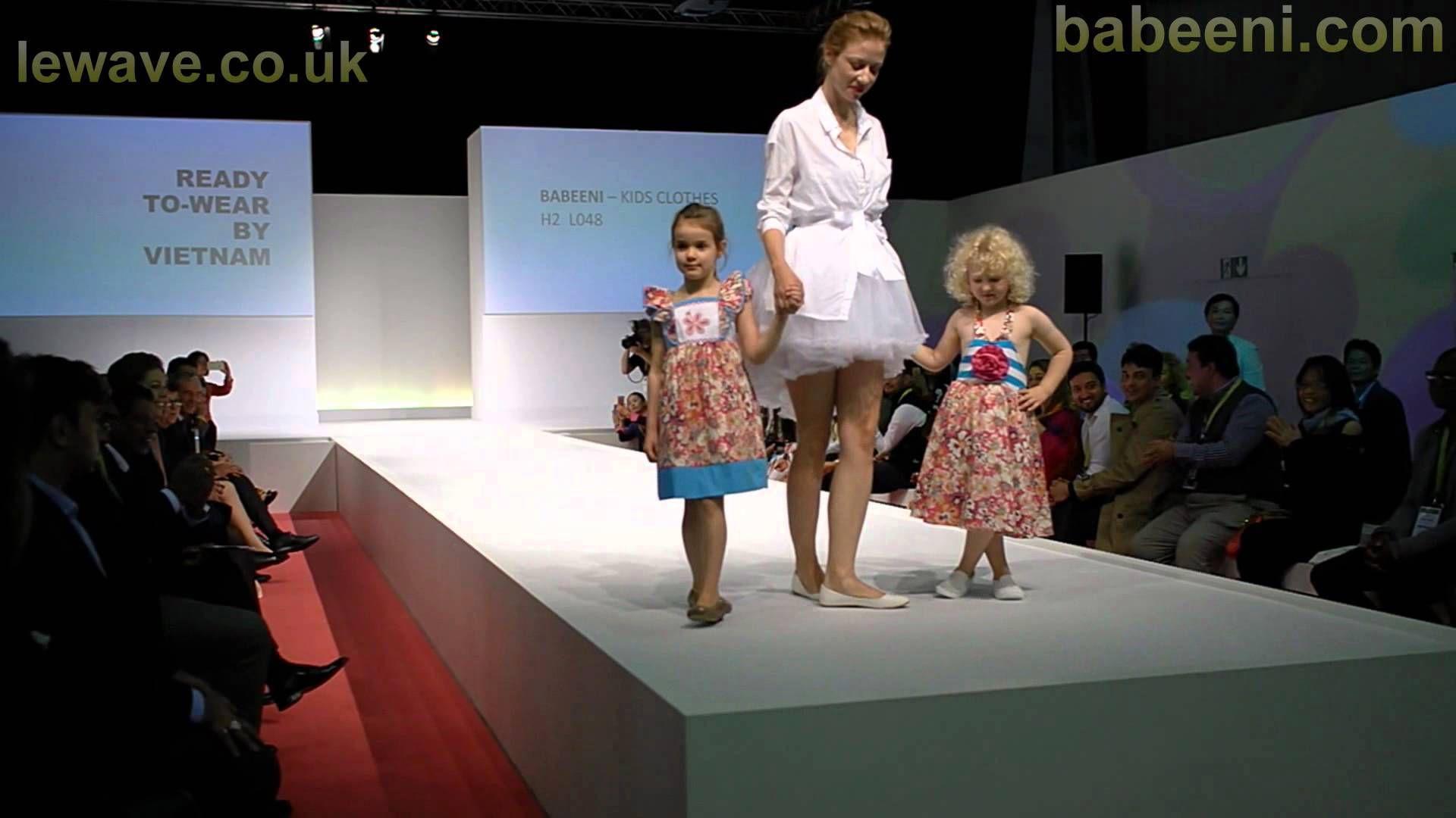 BABEENI kid fashion show at Apparel sourcing Paris 2015