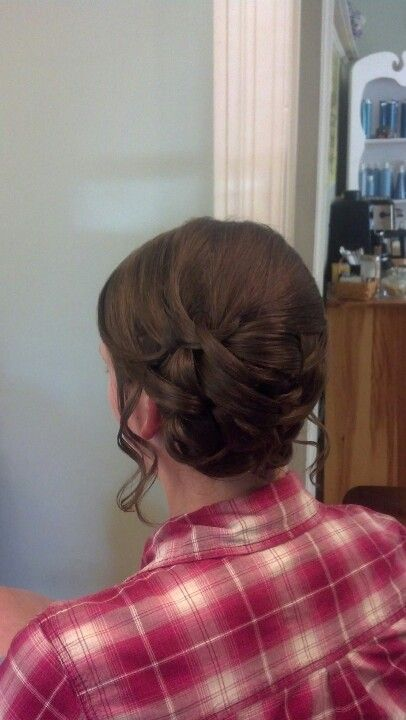 Side bun updo