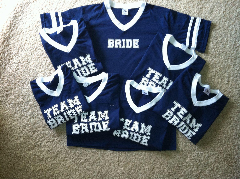 Team Bride Custom Bridal Party Jersey Tshirts By