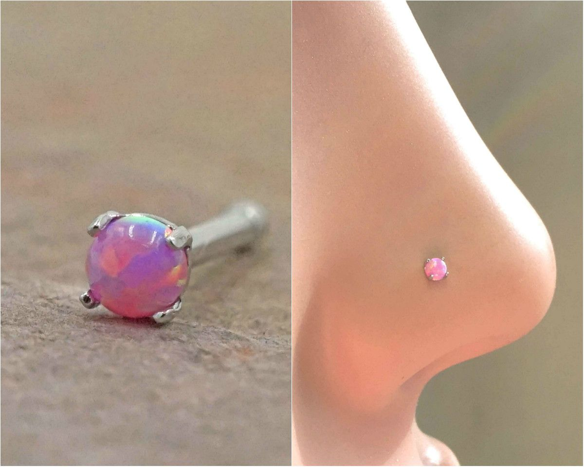 Pink Fire Opal Nose Ring Nose Stud Nose Earrings Nose Ring