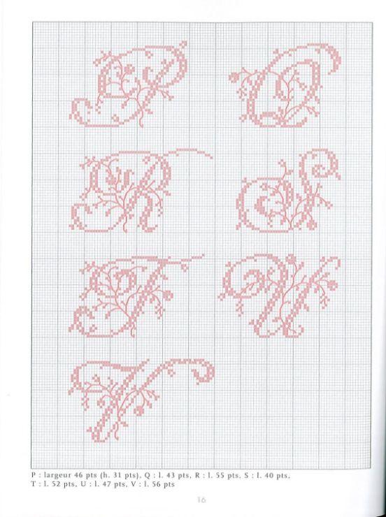 Belles Lettres Point De Croix Gratuit : belles, lettres, point, croix, gratuit, Gallery.ru, /, Фото, Belles, Lettres, Point, Croix, Moimeme1, Croix,, Motifs, Couture