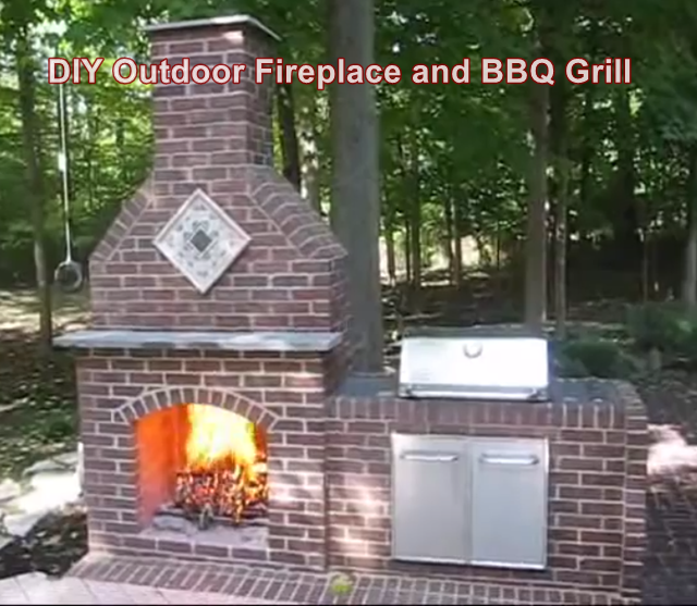 Diy Outdoor Fireplace And Bbq Grill The Homestead Survival Outdoor Fireplace Brick Build Outdoor Fireplace Diy Outdoor Fireplace