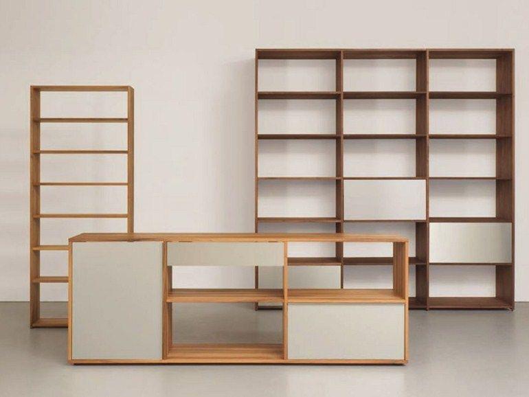 Modulares Bücherregal aus massivem Holz DASREGAL by Sanktjohanser ...