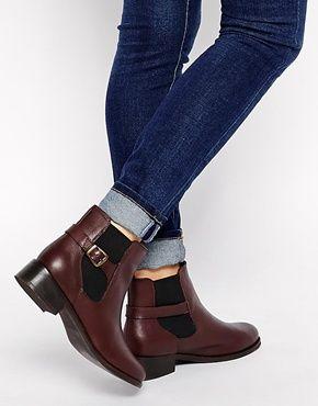 New Look - Digby - Bottines chelsea en cuir - Rouge   Footwear ... 0fe3d1f28c74