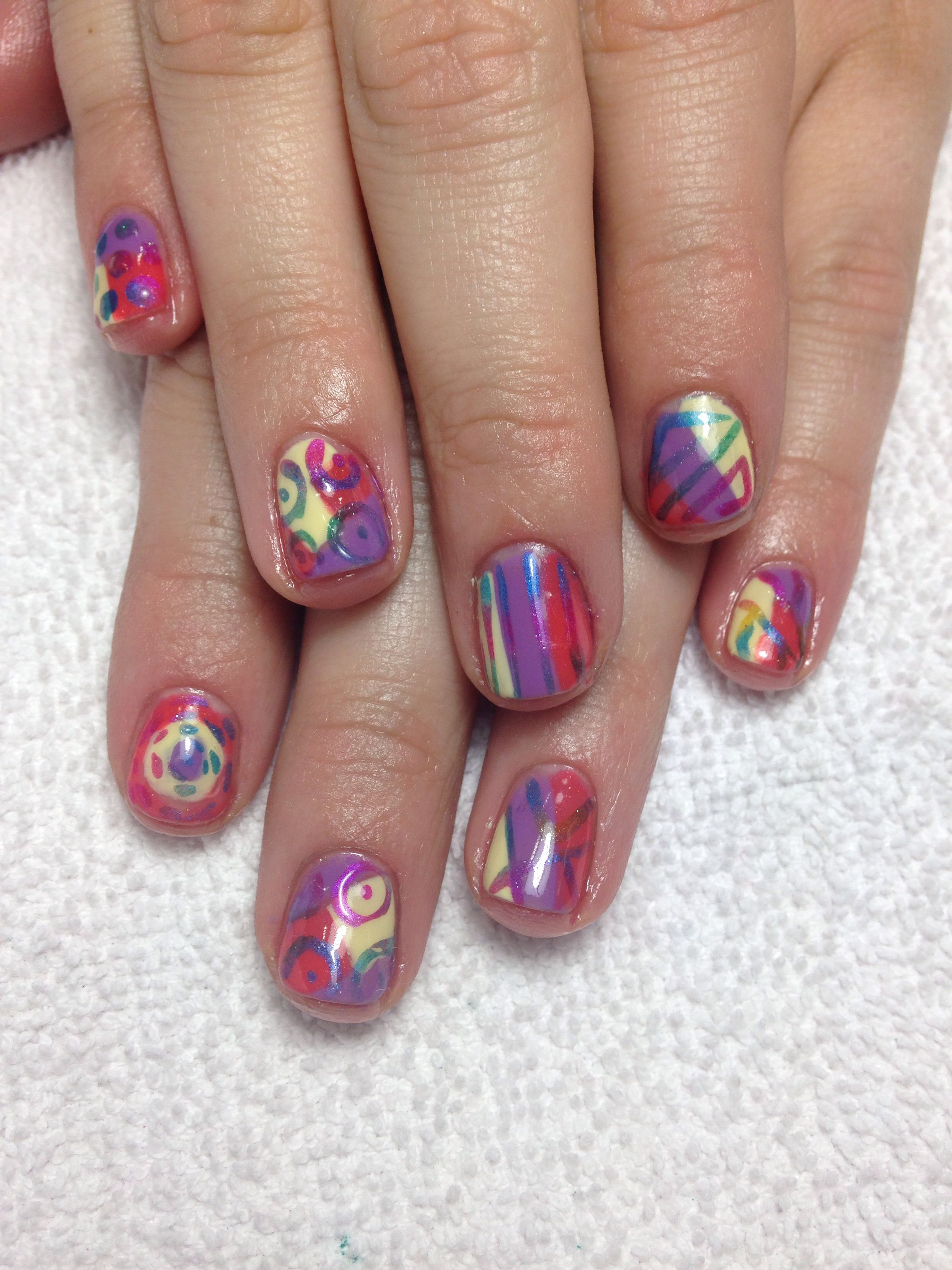 Shellac Nail Art With Cnd Additives Spring Nail Art My Nail Art