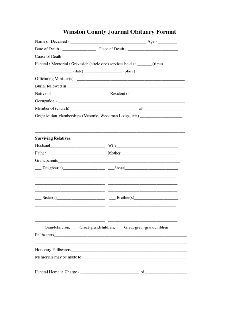 37 Obituary Templates Download Editable Professional Within Free Obituary Template For Microsoft Wo Obituaries Template Funeral Program Template Obituaries