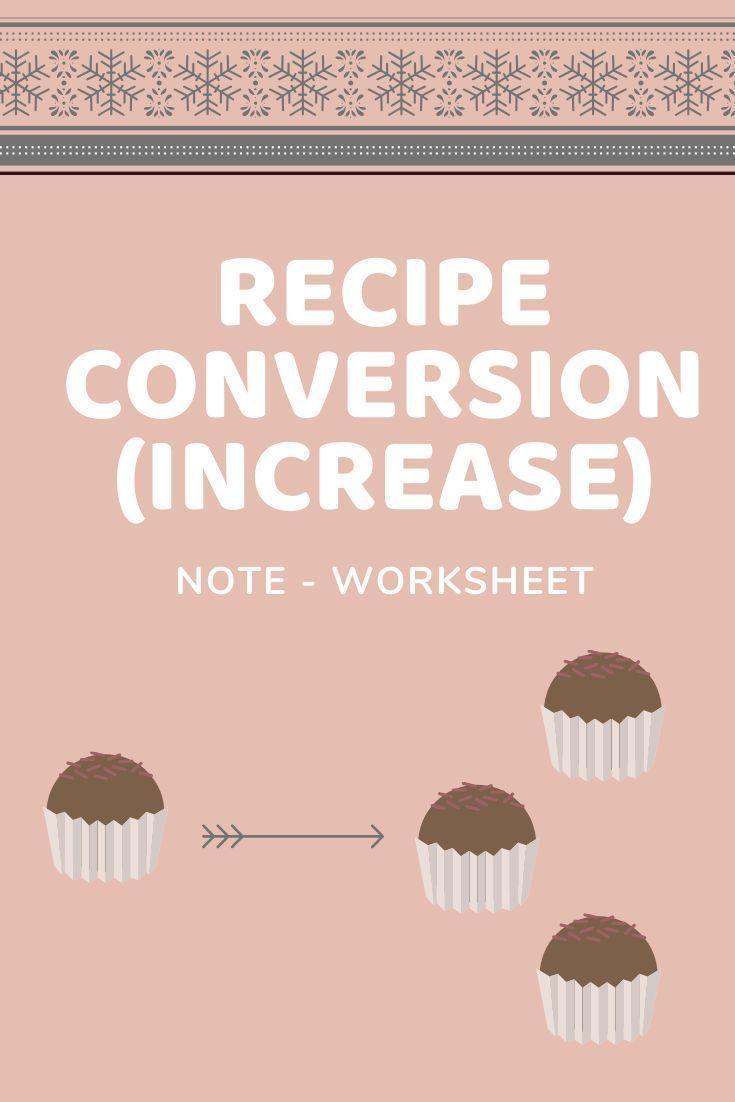 Photo of Converting a Recipe – increase