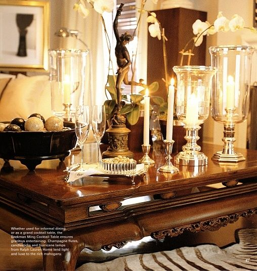 hurricane lamps from Ralph Lauren Home lend light and luexe to the - art deco mobel ralph lauren home