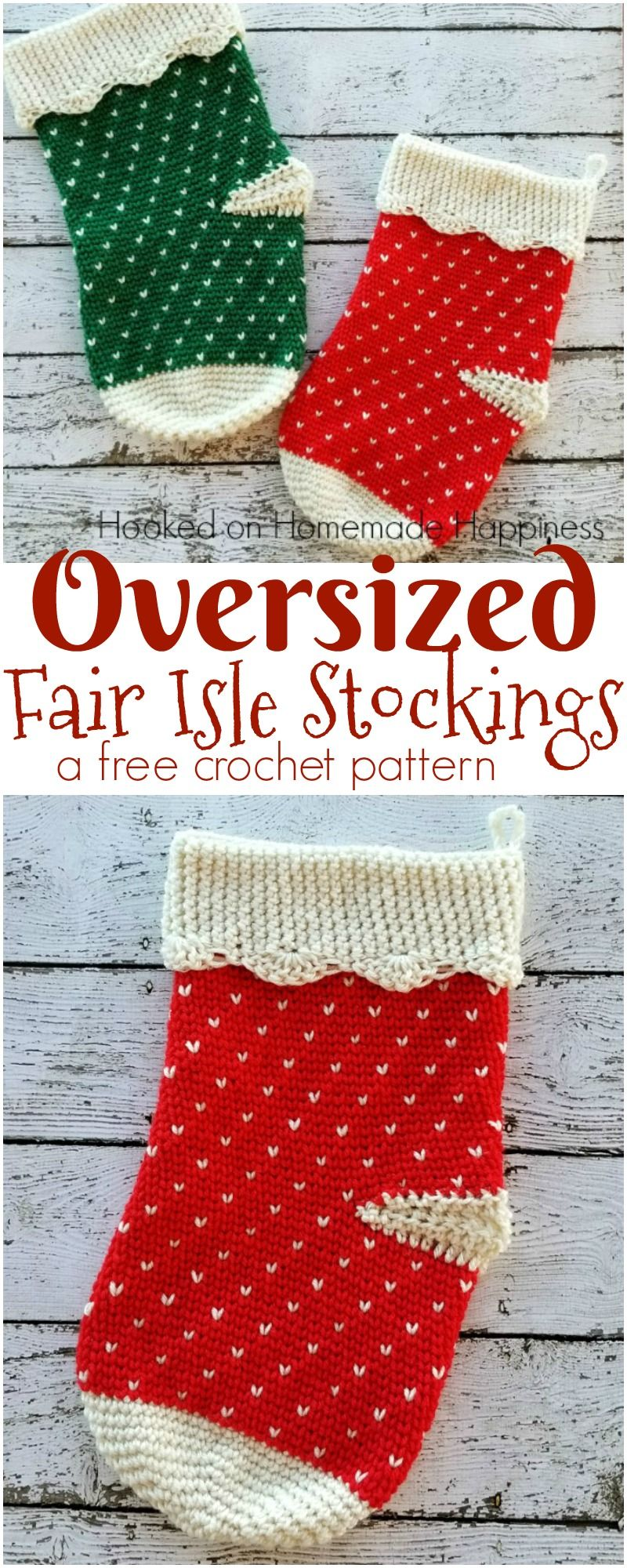Oversized fair isle christmas stockings crochet pattern saint oversized fair isle christmas stockings crochet pattern bankloansurffo Choice Image
