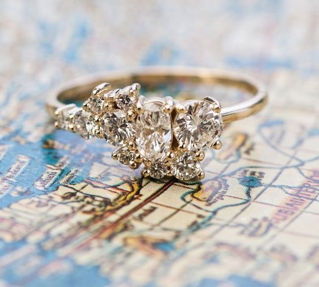 12 Diamond Cluster Engagement Rings So Chic, You Might Buy One for Yourself via…