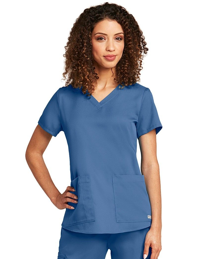 bb6ce76c814 Grey's Anatomy Shirred Scrub Top | Hello Nurse | Greys anatomy ...
