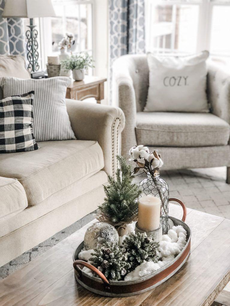 Cozy Winter Living Room Decor The Perfect Transition After Christmas Winter Living Room Decor Christmas Decorations Living Room Winter Living Room