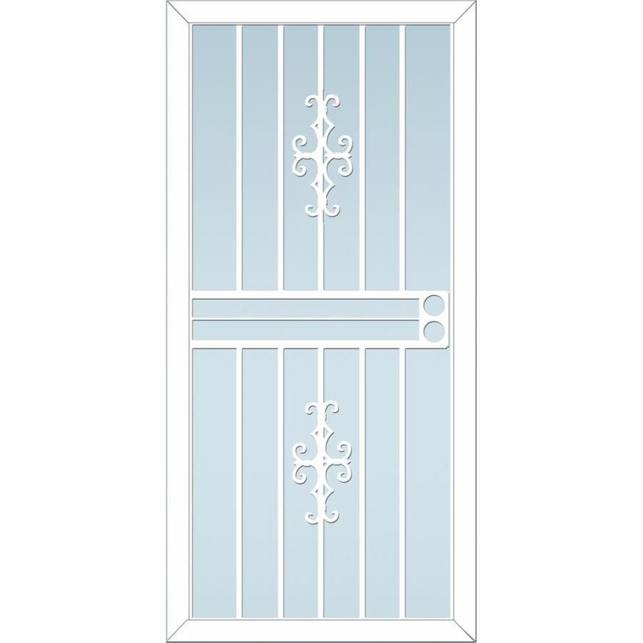 Larson Courtyard White Steel Recessed Mount Single Security Door Common 34 In X 81 In Actual 33 75 In X 79 75 In Lowes Com Steel Security Doors Security Door Door Sweep