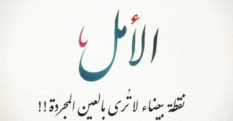 حكم عن الحياة والأمل تجعل الحياة اجمل Arabic Calligraphy