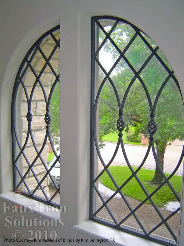 Faux Wrought Iron Window Gallery Decorative Grilles Pioneer Fashions
