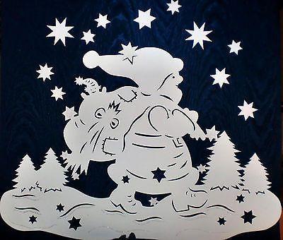 weihnachtsmann filigranes fensterbild aus tonkarton. Black Bedroom Furniture Sets. Home Design Ideas