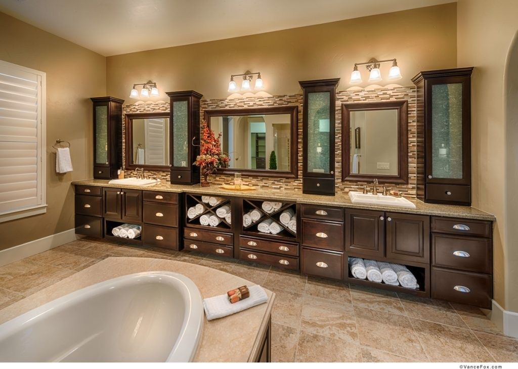 Four Elegant Glassfronted Cabinets Define This Opulent Owners - Bathroom remodel reno nv