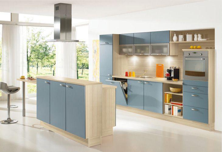 Hellblaue Küche von Pino by ALNO / Light blue kitchen by Pino ALNO ... | {Pino küchen betonoptik 71}
