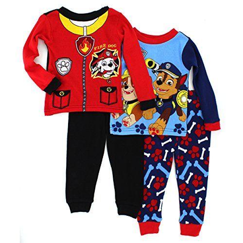 Paw Patrol Toddler Boys Four-Piece Snug Fit Pajama Set Size 2T 3T 4T