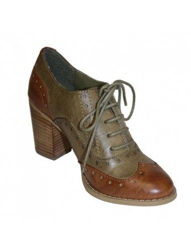 oxford heel, oxford, heel, womens oxford, feminine oxford, chucky heel, lace up