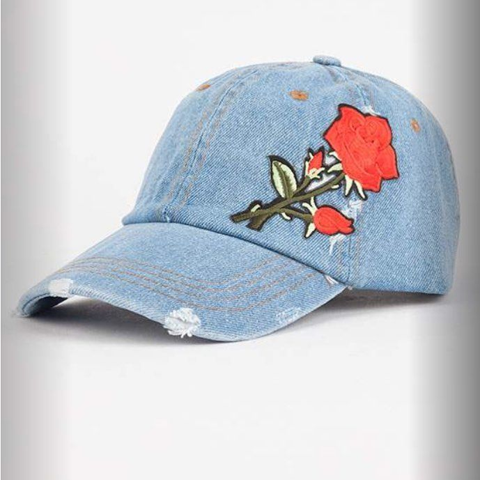 Awesome Rose Embroidered Denim Dad Hat 21 99 Oro Orolist Shop Store Onlinecurato Rose Embroidered Denim Dad Hat 2 Embroidered Denim Dad Hats Hats