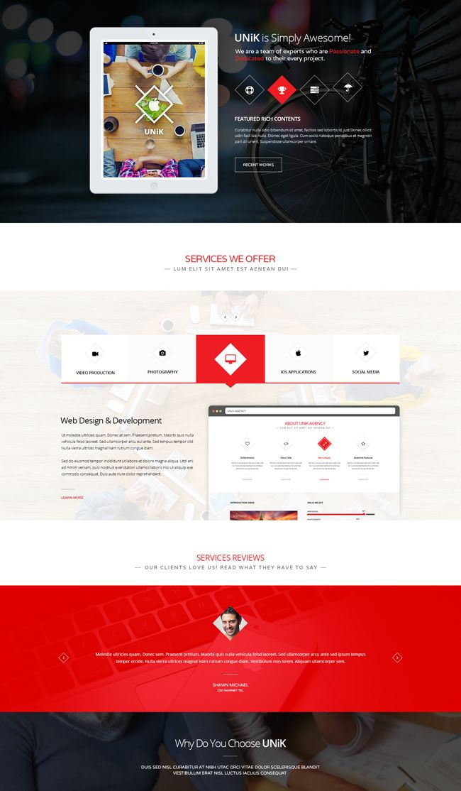 Unik - Creative Multi-Purpose WordPress Theme | Web Templates | Web