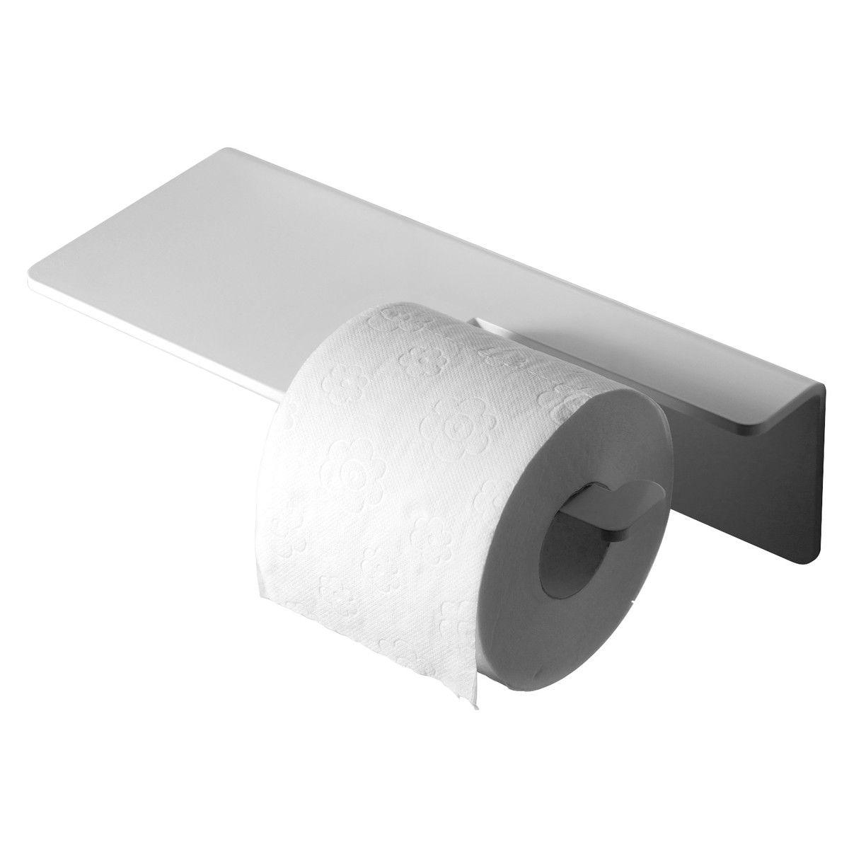 radius design puro toilettenpapierhalter wei - Freistehender Toilettenpapierhalter Mit Lagerung