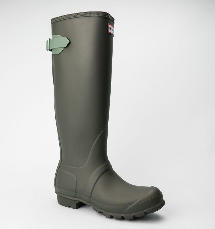 Hunter Original Back Adjustable Boots Dark Olive Succulent