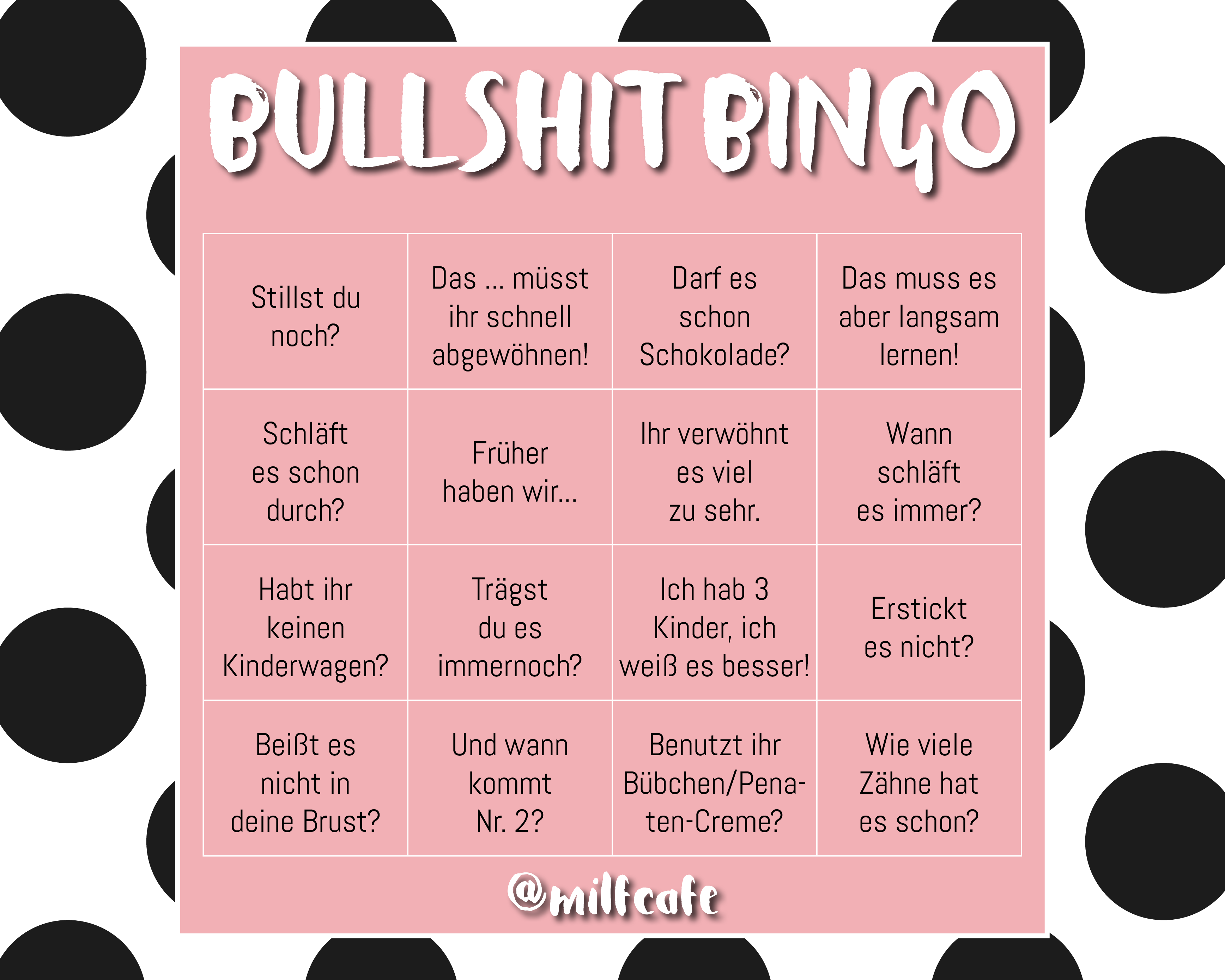 Quarantäne Bingo