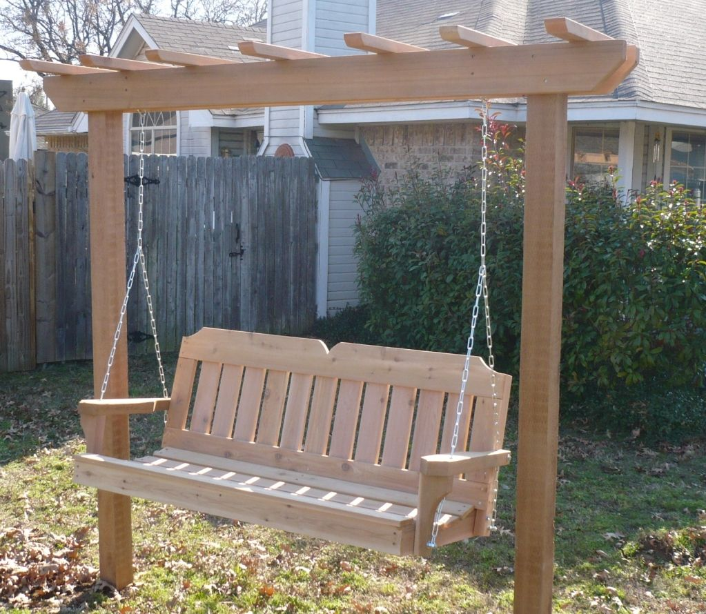 4x4 post style arbor swing porch swing with stand