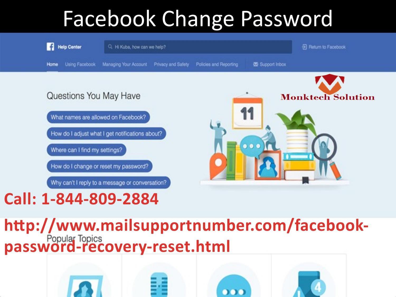 Facebook Change Password 1-844-809-2884 (toll-free