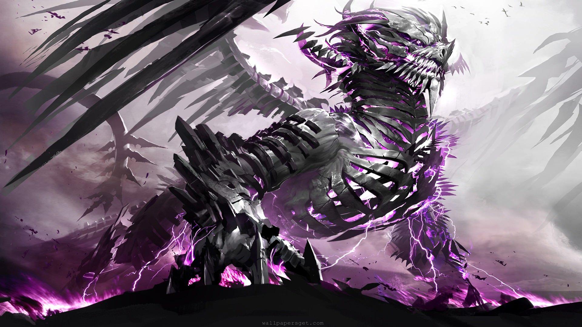 Purple Dragon HD Desktop Wallpaper 19201080