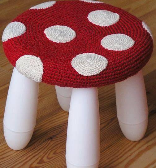 banco tejido para nenes | Fundas para banquitos a crochet ...