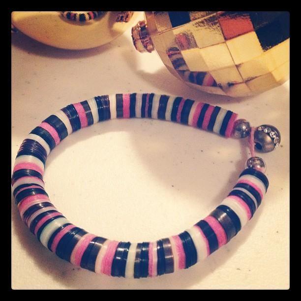 DIY Sequined Bracelet
