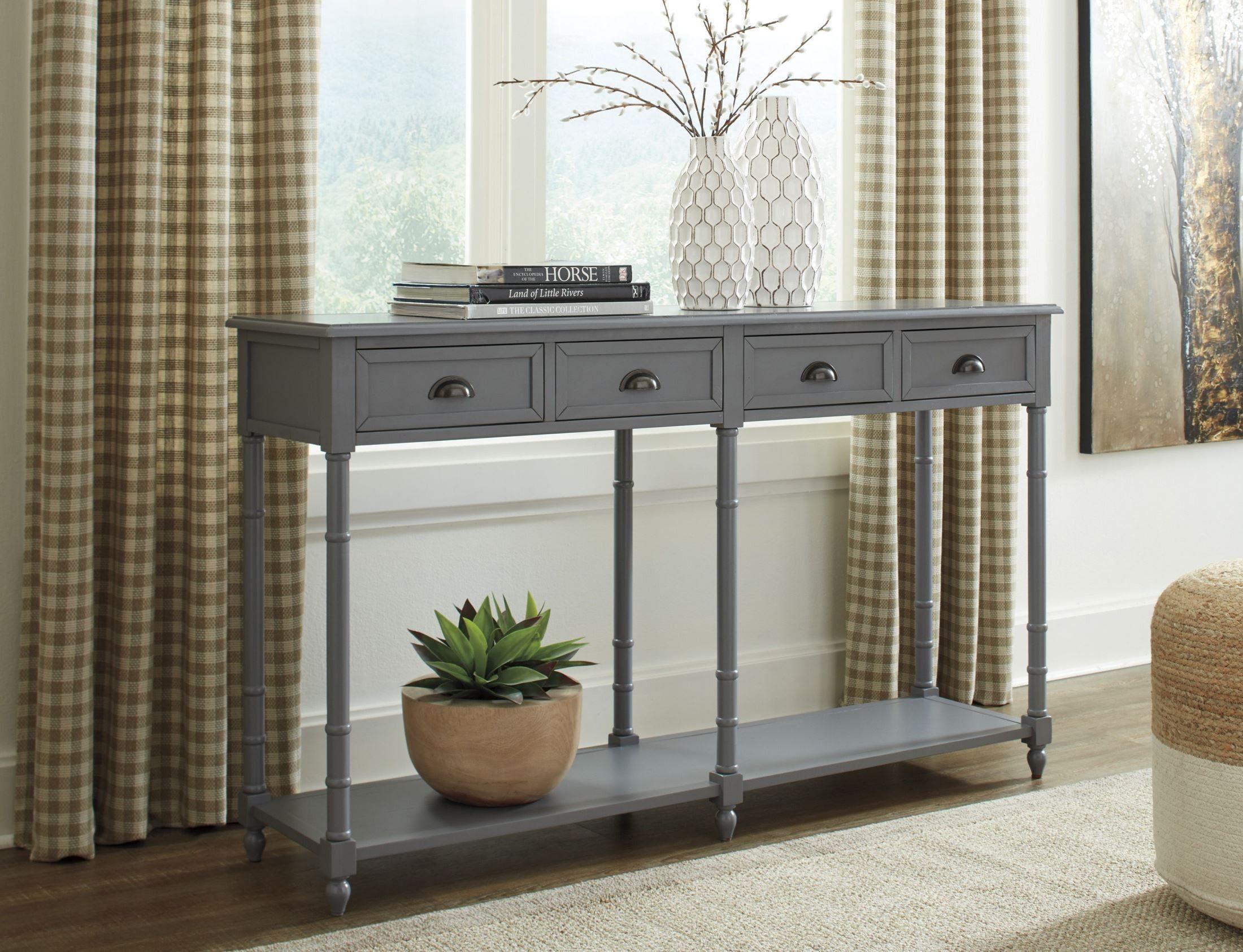 Eirdale Gray Console Sofa Table Sofa Table Console Table