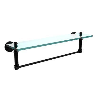 "Allied Brass Waverly Place Bathroom Shelf Size: 22"" W x 5"" H, Finish: Matte Black"