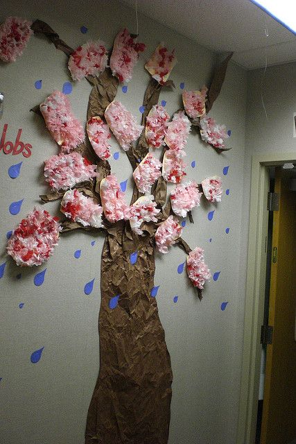 Cherry Blossom Tree In My Classroom By T Volk Via Flickr Classroom Tree Cherry Blossom Theme Door Decorations Classroom