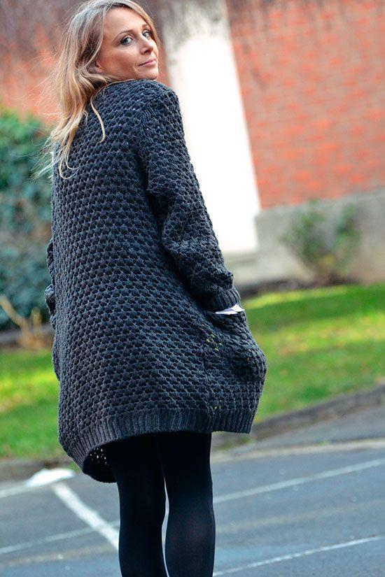 gilet laine femme grosse maille jersey - Recherche Google   gilet ... 91160c8e010c