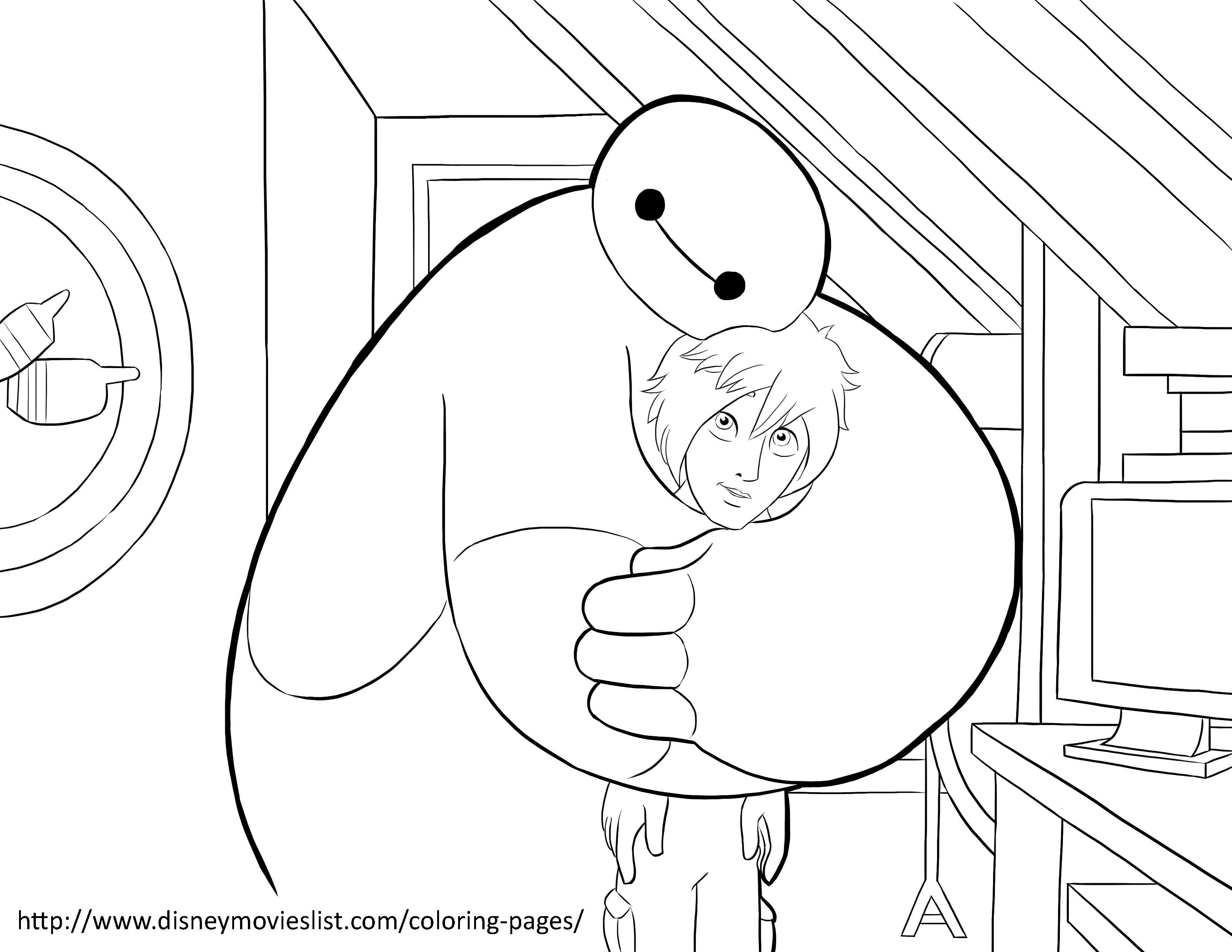 Disney's Big Hero 6 Coloring Pages Sheet, Free Disney