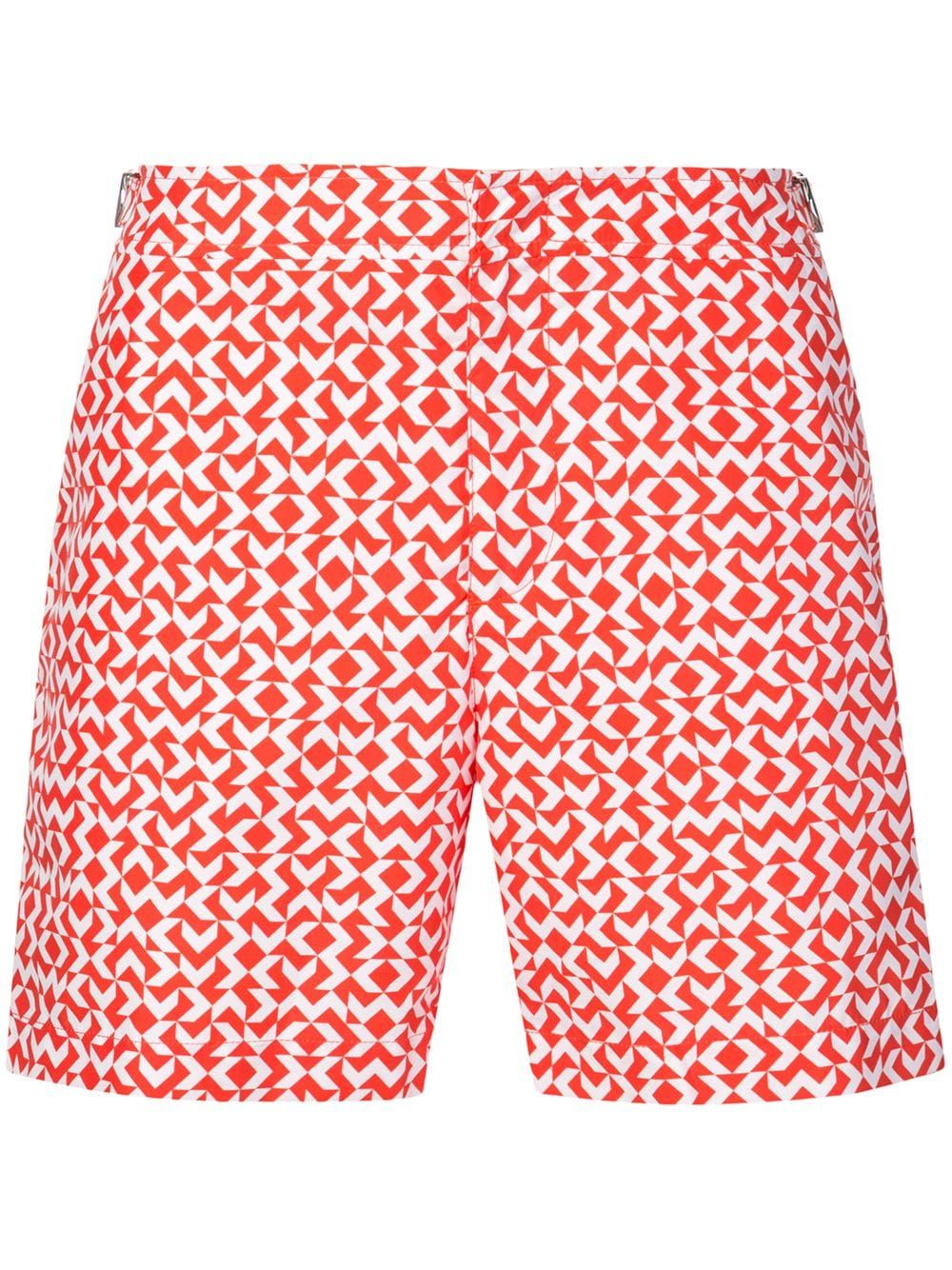 1b3b780e7c ORLEBAR BROWN ORLEBAR BROWN GEOMETRIC PATTERN SWIM SHORTS - RED. # orlebarbrown #cloth