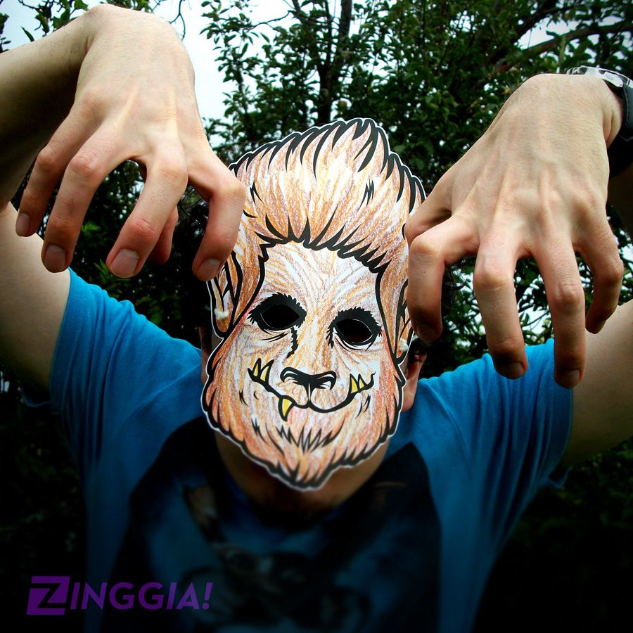 Wanna Make Your Own Halloween Mask Check Out This Wolfman Werewolf Paper For Kids