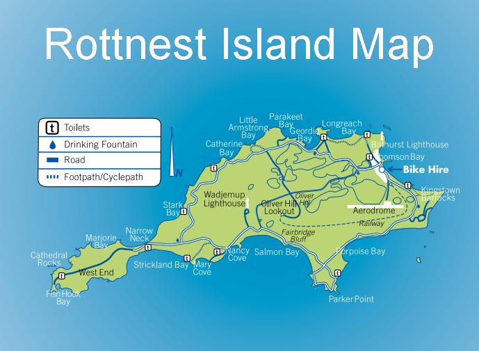 Rottnest Island Map Island Map Drinking Fountain Island
