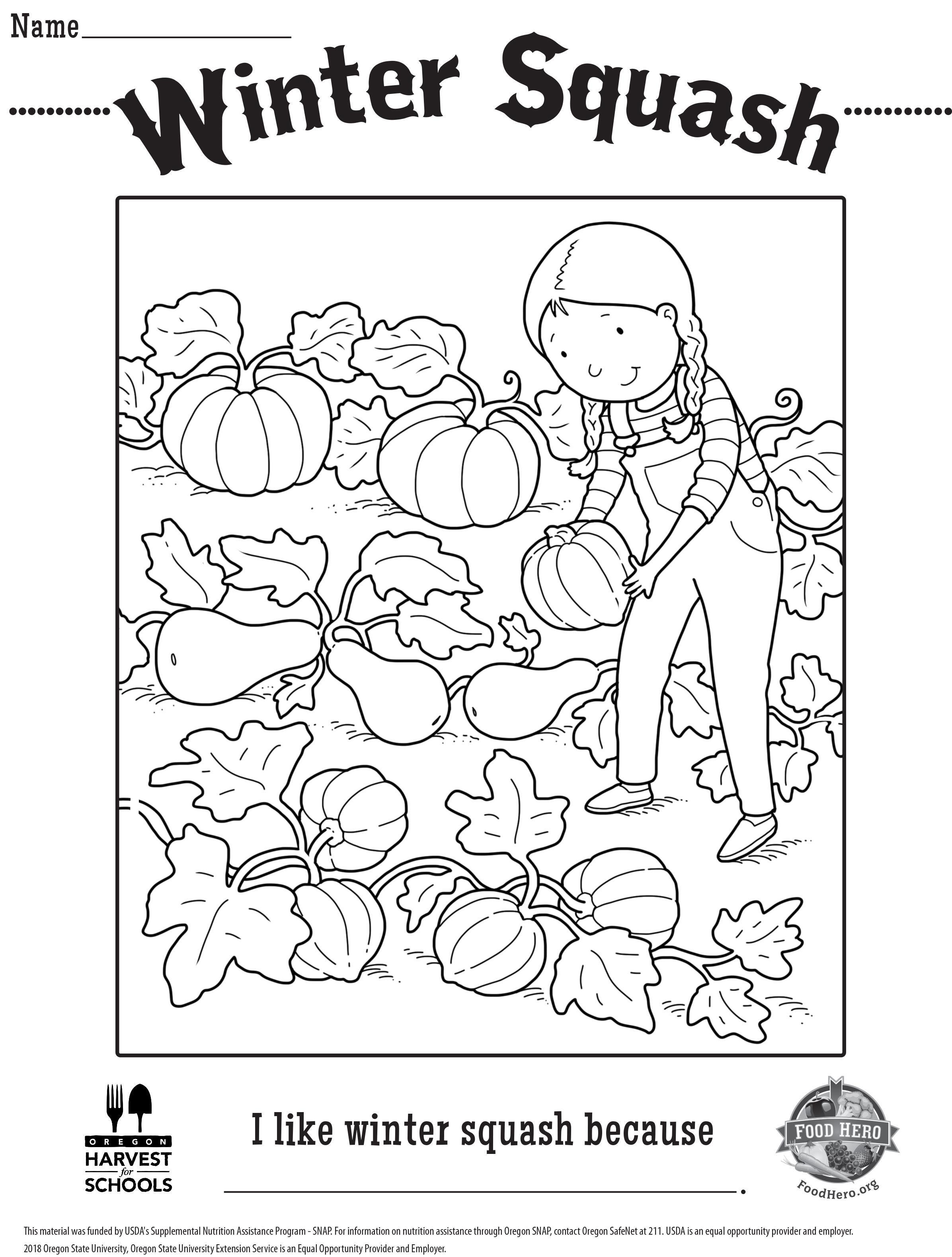 Free Coloring Sheet Winter Squash Coloring Sheets Free Coloring Sheets Winter