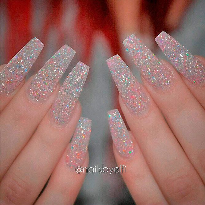 21 Cool Coffin Shape Nails Designs to Copy in 2018 - 21 Cool Coffin Shape Nails Designs To Copy In 2018 Nail Nail