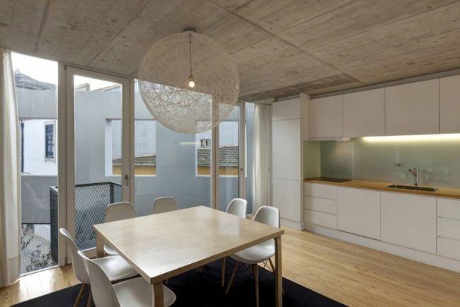 Industrial Chic Wohnstil-Küche-weiß Einrichtung-Decken Putz modern - küche modern weiss