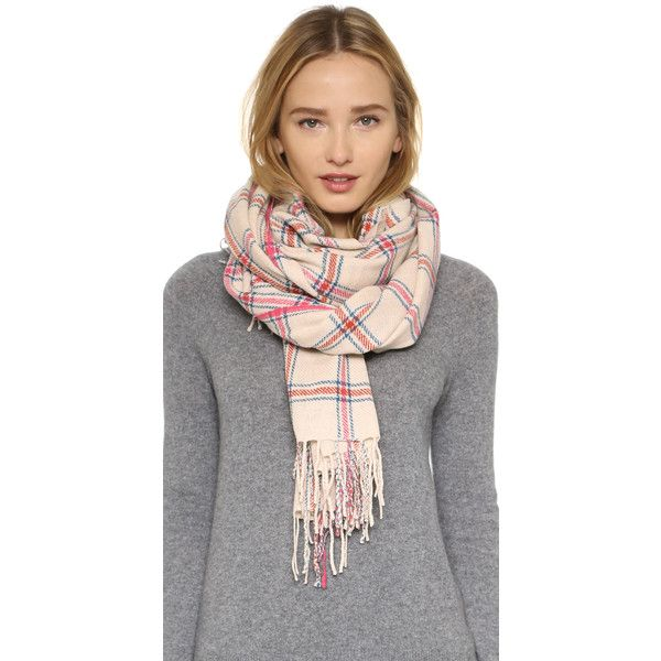 Standard Form Neo Window Pane Scarf (10.425 RUB) ❤ liked on Polyvore featuring accessories, scarves, pale yellow, tartan plaid shawl, plaid shawl, tartan plaid scarves, tartan scarves and tartan shawl