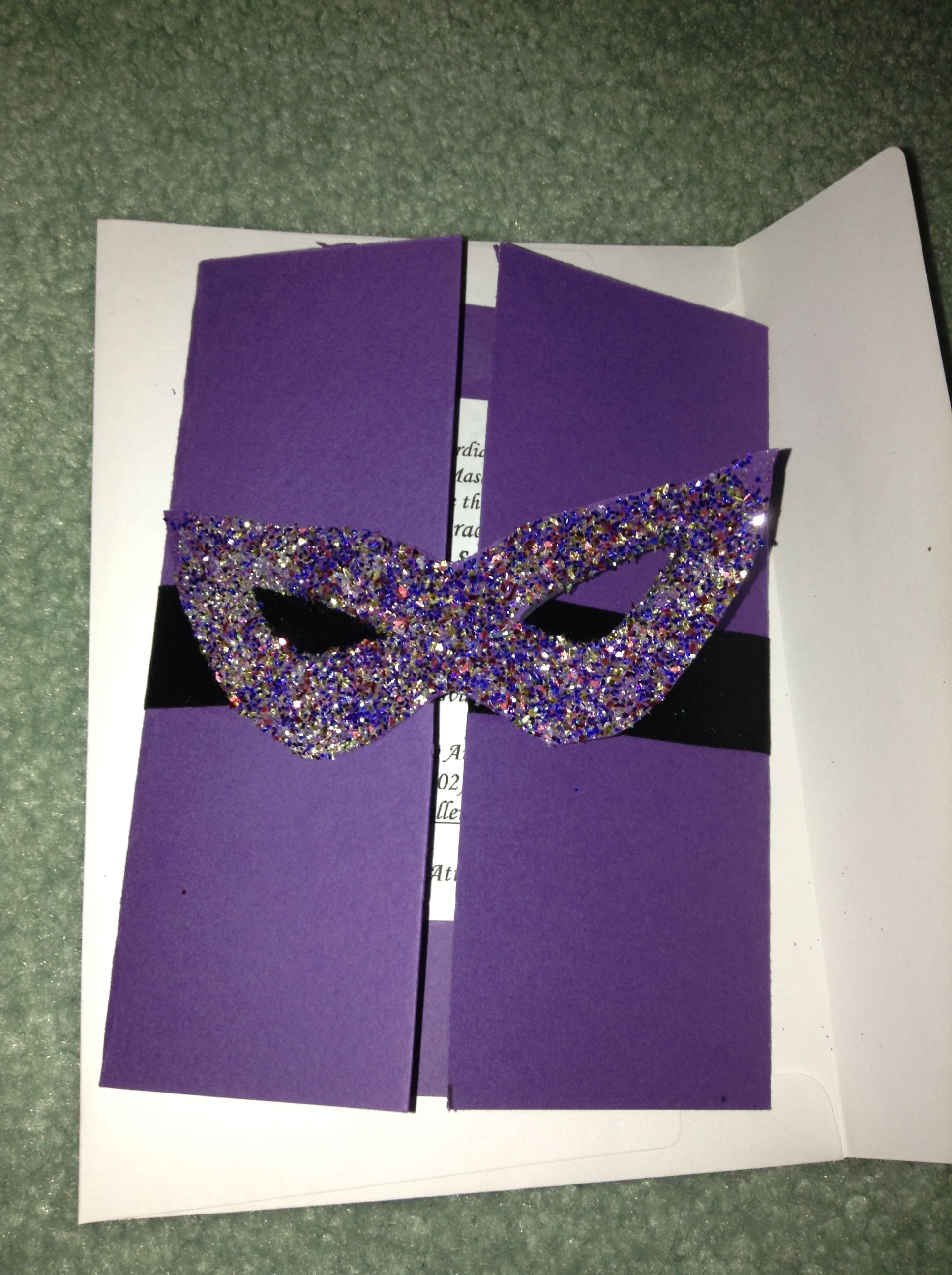 Homemade Masquerade Invitations