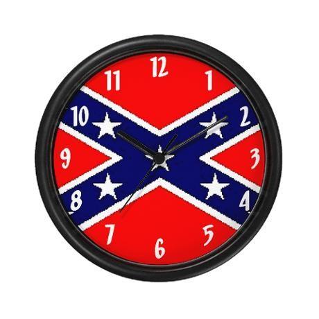 Rebel Flag Wall Clock