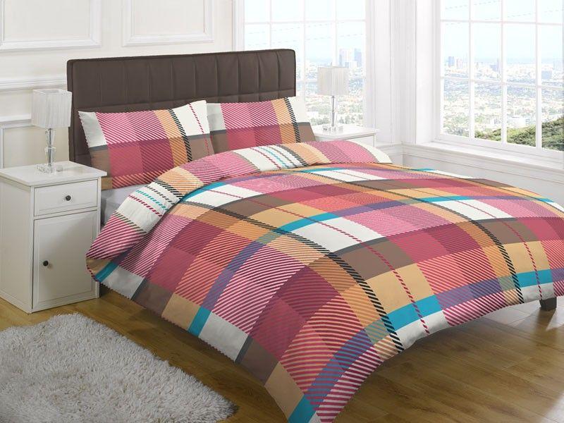 Tarten Check Multi Coloured Duvet Cover Set Duvet Sets Print Bedding Bed
